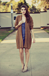 Jade Elise - Urban Outfitters Cardigan, Urban Outfitters Dress - The robe cardigan