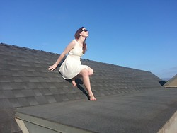 Paula Gallagher - Free People Daisy Waste Dress - A good dress for climbing rooftops
