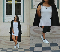 Maria Galvão de Sousa - Vintage Duster Coat, Adidas Dress, Adidas Sneakers - NEVER STOP RUNNING