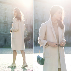 Anouska Proetta Brandon - Zara Coat, H&M Turtleneck, River Island Skirt, River Island Shoes - Last Light.