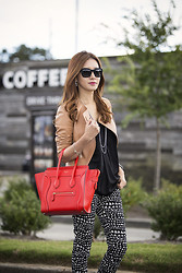 Christina Oh - Michael Kors Jacket, Céline Bag, Stella Mccartney Pants, Ippolita Earrings, Milly Blouse, Givenchy Shoes, Chanel Glasses, David Yurman Necklace - LAID-BACK STYLE