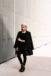 Doris Dave - Zara Coat, Lee High Waisted Jeggings, Sacha Platforms, Daniel Wellington Watch - IN TRANSITION