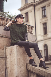 MissRux R. - Choies Hat, Zara Sweater, Moa Earrings, Stradivarius Pants, H&M Boots - Catch me if I fall!