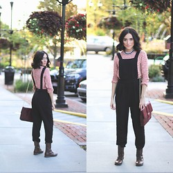Karissa Marie - Steve Madden Boots, Anthropologie Cropped Sweater, Forever 21 Overalls - Overalls Over All, Baby