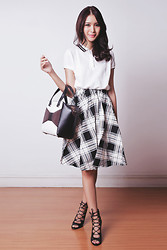Tricia Gosingtian - Murua Top, Ingni Skirt, Kate Spade Bag, The Sm Store Heels - 101114