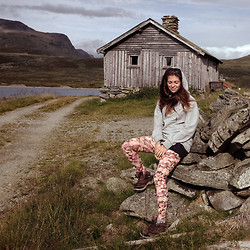 Sasha Kiseleva - Naketano Hoodie, Police Glasses, Zara Leggings, Quechua Boots - Somewhere in Norway
