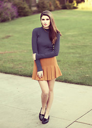 Jade Elise - Forever 21 Skirt - Fall color palette
