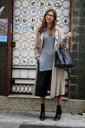 Patricia G. - Zara Trench, Zara Culotte, Prada Bag, Zara Shoes - Dear trench