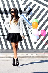 Macarena Ferreira - Bliss Tulle Skirt, Forever 21 Sweater, Lola Shoetique Wedges, H&M Necklace - Happy Birthday, Material Girl! 1 year blogger-versary