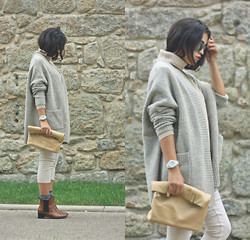 Maria Galvão de Sousa - Zara Cardigan, Lacoste Sweater, Zara Leggings, Lefties Boots - SWEATER WEATHER