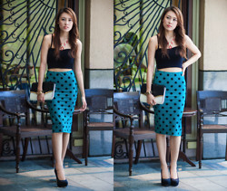 Alyssa Y - Forever 21 Crop, Forever 21 Pencil, Dorothy Perkins Clutch, Miss Selfridge Pumps - Who's that Girl