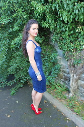 Nicola McLaughlin - Iclothing Dress, Iclothing Shoes, Boudoir Boutique Earrings - Sequins & Glamour