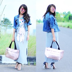 Wenny Yolanda - Bangkok Wholesale Cat Long Dress, Marc By Jacobs Bag Look A Like, Jeffrey Campbell Soiree, Graciaz Love Sunnies - Love Journey