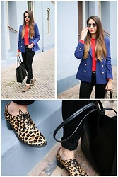 MIXT - H&M Blazer, Weekday Sweater, Minimarket Leopard Shoes - Leopard shoes