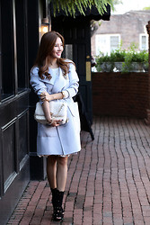 Christina Oh - Burberry Coat, Christian Dior Bag, Alaia Shoes - COAT INSPIRATION