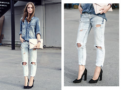 Katerina Kraynova - Mavi Jeans Shirt, Givenchy Bag - Denim On Denim #4