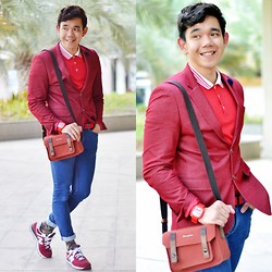 Lo Pascual ⚓ - Iconic Blazer & Brooch, Herringbone Camera Bag, Make Time Watches Watch, Cotton On Socks - Mon Coeur ♥