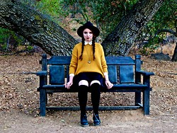 The Indie Girl Fleming - Urban Outfitters Oversized Sweater, Dr. Martens Black Docs, Nasty Gal Black Skirt - Salem