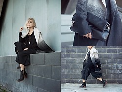 Eugénie Grey - Bb Dakota Ombre Coat, Bb Dakota Top, Bb Dakota Culottes - #BBDtothebone $1000 shopping spree giveaway!