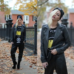 Samii Ryan - Aeropostale Jacket, Happiness Pants, Urbanog Shoes, Happiness Shirt, Long Clothing Beanie - Happiness