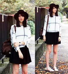 Nora Aradi - Choies Hat, Sheinside Sweater, Choiess Skirt, Asos Sandals, Daniel Wellington Watch - 10.27.