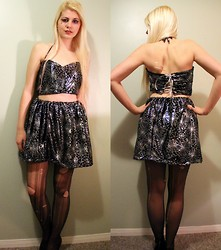 Caillie Pilon - Hand Made Top And Skirt, Aldo Heels - Spider Queen 2.0