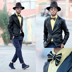 Faissal Yartaa - Minitake Evening Party Business One Button Non Vent Men's Suits, Blow Ties Zipper, Hoodboyz Pant, Minitake Winter Office Formal Casual Purity Men 'S Shoes Nubuck Leather, Giant Vintage Mirrored - MASCARADE