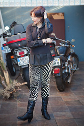 Clara's Concept - Country Road Black Men's Shirt, Gabor Leather Boots, Woolworths Sa Knitted Jersey - OUTFIT: Tiger, Tiger
