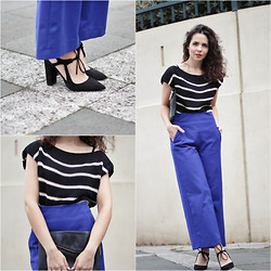 Jasmin - Zara Heels, Wool And The Gang Top, River Island Clutch, Zara Trousers - Comfort Fashion 2.0