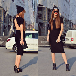 Aigyz Rebelle - Zara Dress, Asos Bag - Black dress