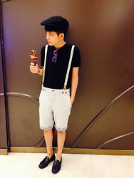 Kai Chi Lao - H&M Hat。, Zara Pants。 - ▲ #BREEZE #ELLE #GODIVA #ICE CREAM 。 ▲