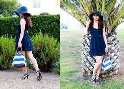 Anna Lorena . - Mango Dress - Majorca & A Floppy Hat
