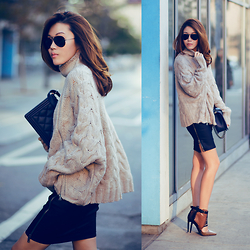 Jenny Tsang - Sweater, Skirt, Heels - Zip 'em