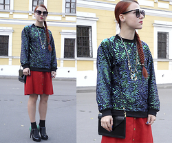 Jenny Danilkova - Chic Wish Sweatshirt, Beyond Retro Skirt - All that sequins