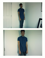 Jason Nava - Levi's® Pants, Urban Outfitters Button Up Shirt - Casual Thursdays