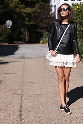 Laura H - Zara Jacket, Alexander Wang Bag, Only Top, H&M Skirt - Double leather