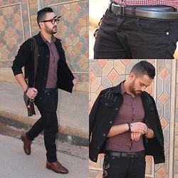 Nabil Asserghine - Belt, Black, Contact Me - The mession