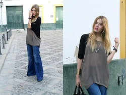 Amy Ramírez - Zara Total Look - Bell bottoms