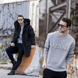 Marcel Floruss - H&M Sweater, H&M Jacket, H&M Sneakers - Wang x H&M (actually)