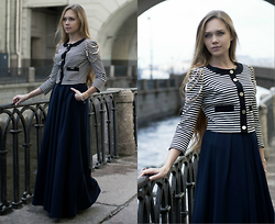 Alena Vorontsova - Celyn B Jacket, Storyofelegance@Mail.Ru Skirt, Shlomit Ofir Bracelet, H&M Ring - St. Petersburg