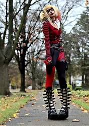 Drowsy Dame - Diy Vest, Friend Bullet Belt, Diy Gun Harness, Friend Leggings, Sock Dreams, Demonia Swing 815 - Wanna Play...?