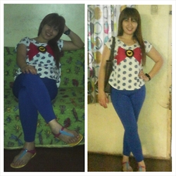 Ytalia Baguio - Mango Top, Jessica Jelly Flipflops - Sailormoon