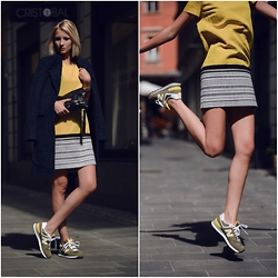 STREETCHATELLA ♥ - Marella Dress, New Balance Sneakers, Topshop Coat - New Balance Style