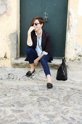 Maria Marques - Zara Loafers - Office in Blue