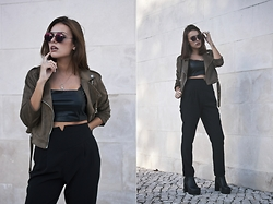 Mafalda Castro - Missguided Trousers, Missguided Biker Jacket - Long list