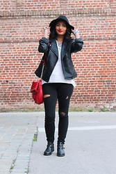 Karen Rakoto - Aldo Red Bag, Jonak Boots, Zara Slim - 1th november