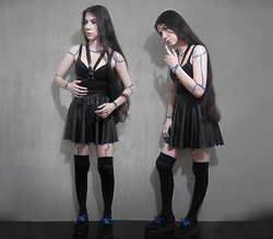 Winnie Torres - Diy Harness, Skirt, High Tights, Creepers - I look human, but I'm not totally!