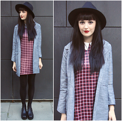 Kayleigh B - Choies Check Collar Dress, Oasap Blazer, Vagabond Boots - Spellbound