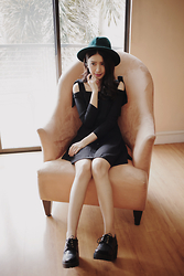 Tricia Gosingtian - Asian Icandy Dress, One Way Boots, Forever 21 Hat - 102814
