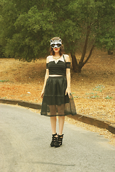 Amy Roiland - Blak Label Top And Skirt, Jeffrey Campbell Shoes - Raccoon